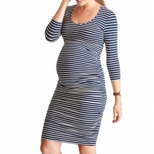 Ingrid and Isabel Stiped Maternity dress